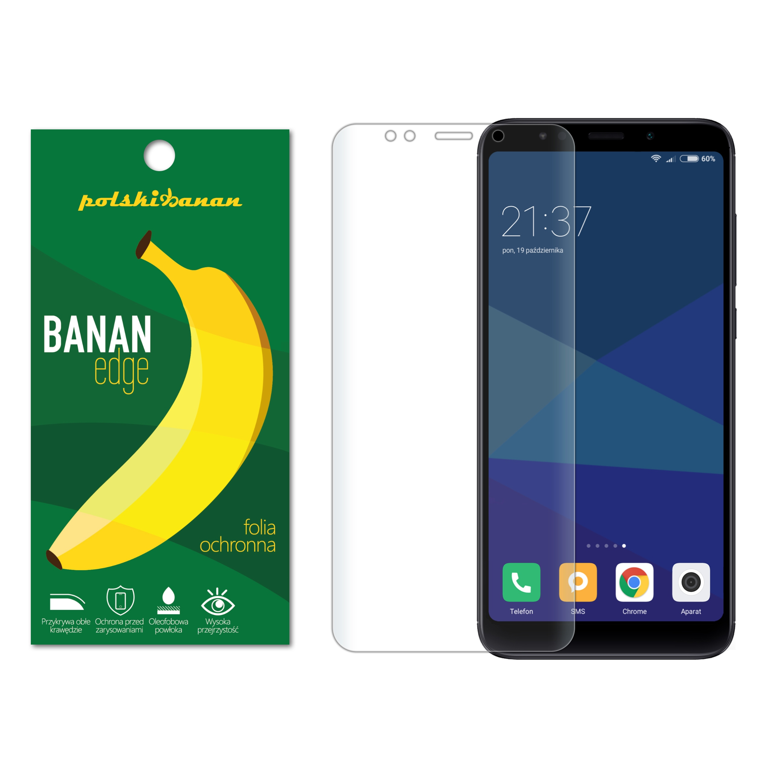 Folia Ochronna Polski Banan do Xiaomi Redmi 5 Plus