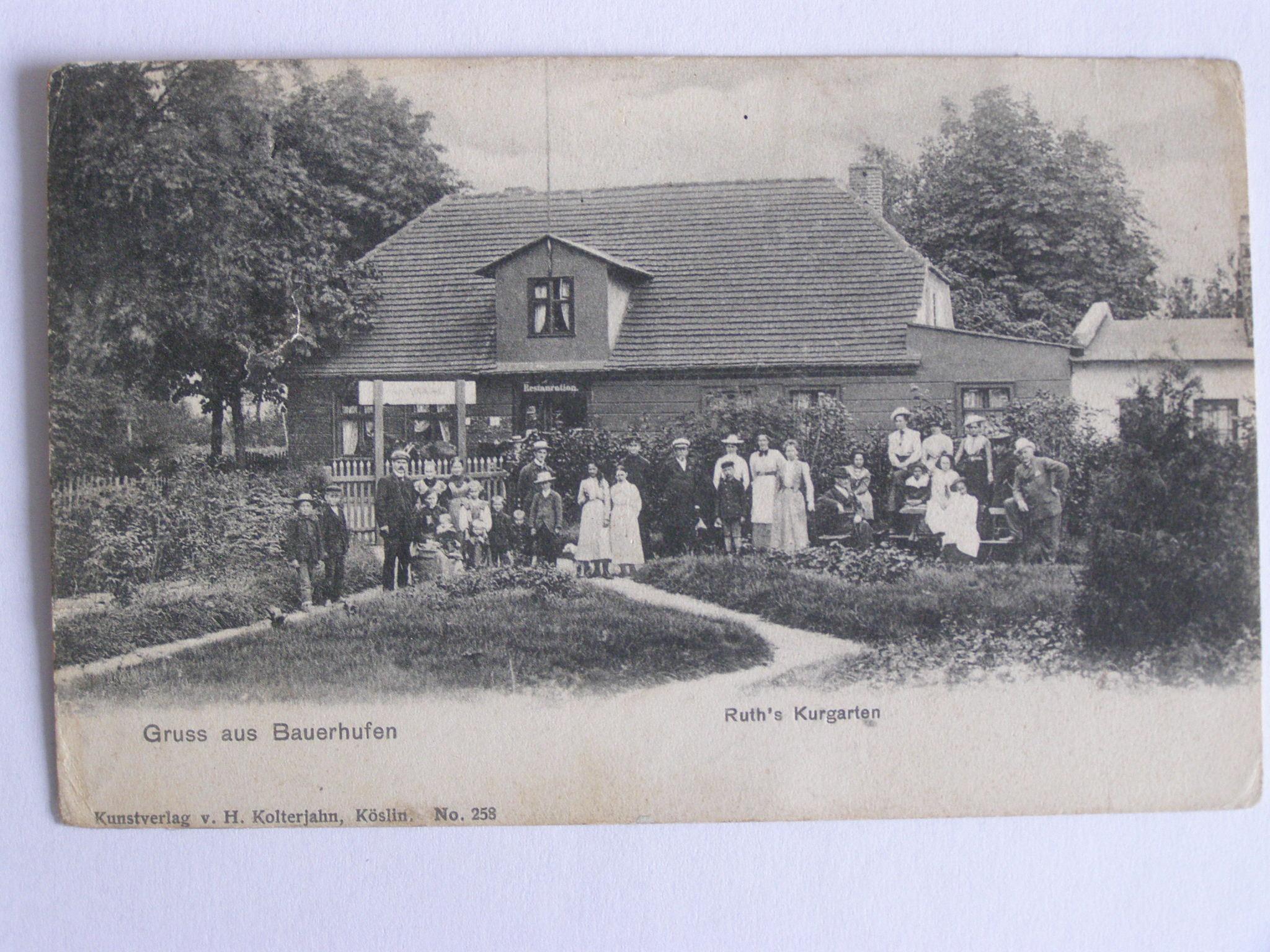 Chłopy Bauerhufen Koszalin hotel Ruths 1905