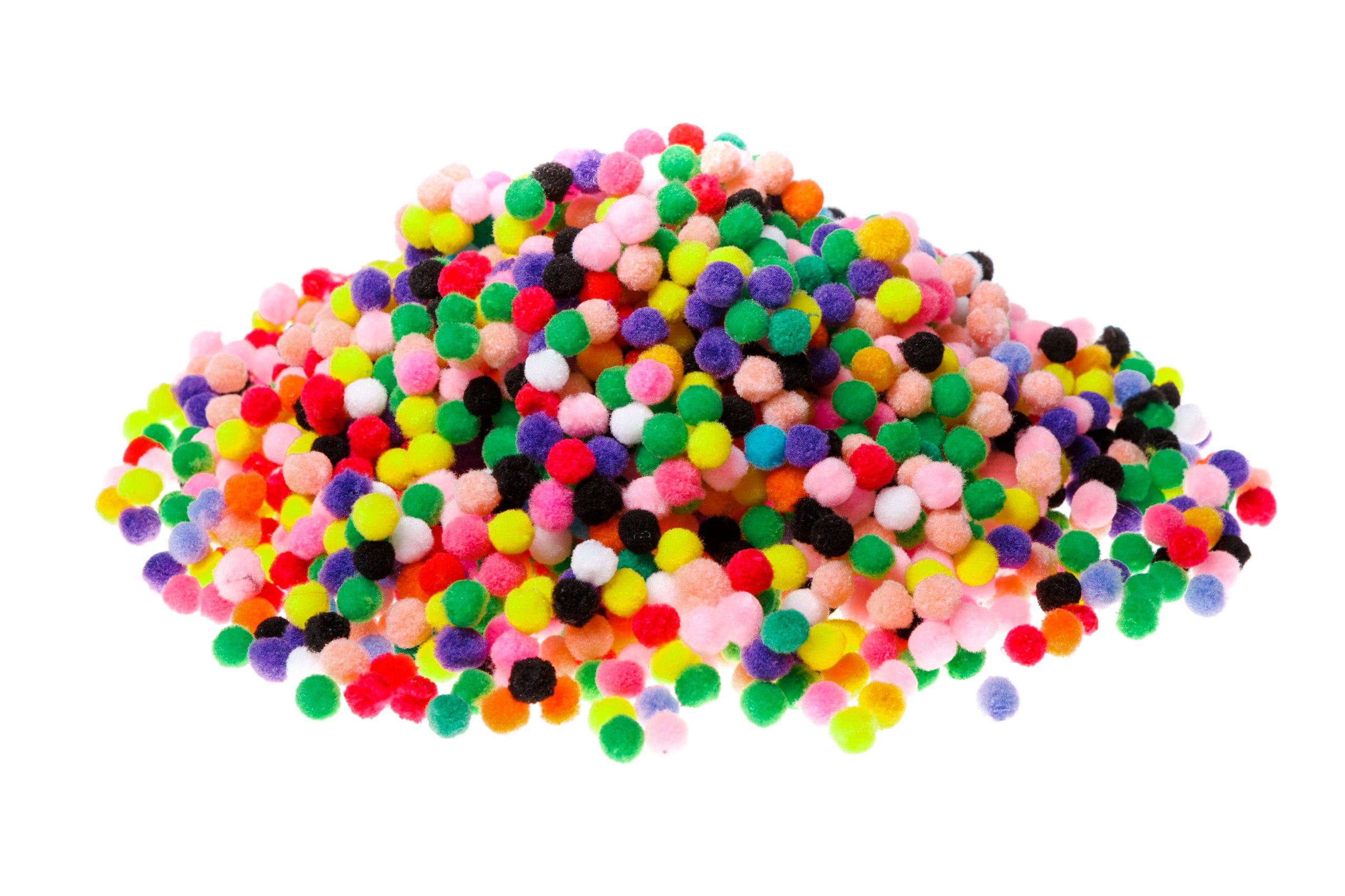 Item The POM-POM MIX color 100pcs DECORATIVE POMPONIKI