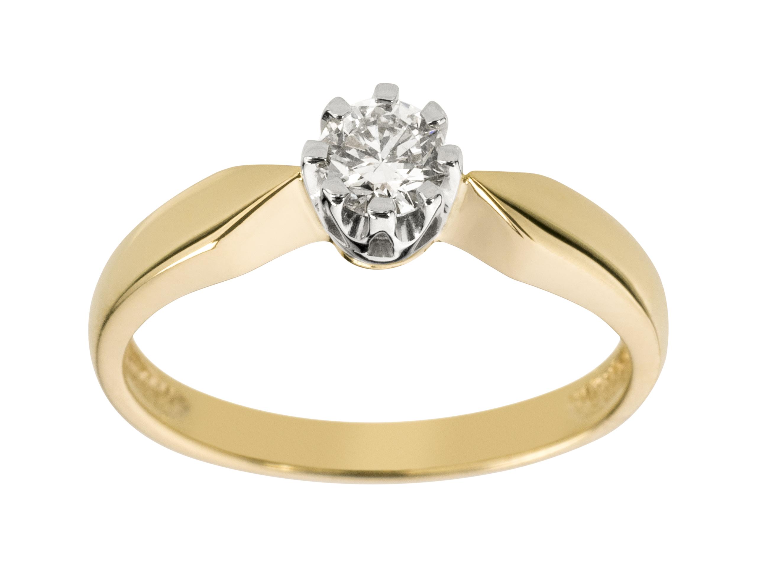 CLASSIC GOLD DIAMOND RING 0.24 ct