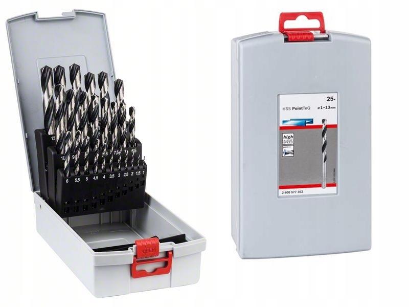 25 штук комплект СВЕРЛА Металл Bosch HSS PointTeQ