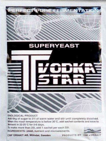 Ликеро-водочные дрожжи Самогон T Vodka Star Акция!