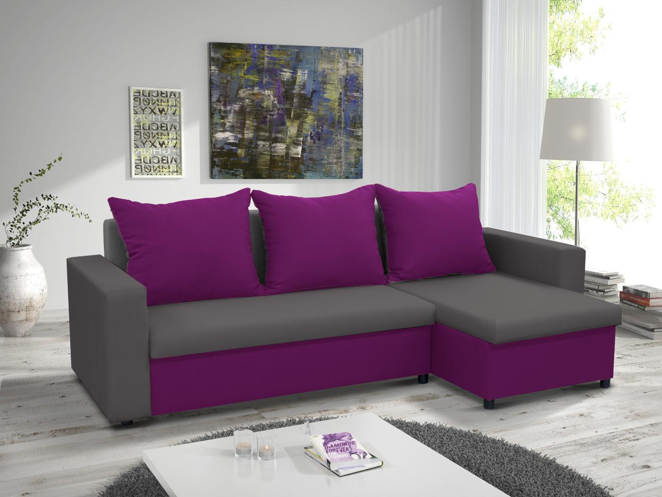 фиолетовые диваны с подушками фото лишь
