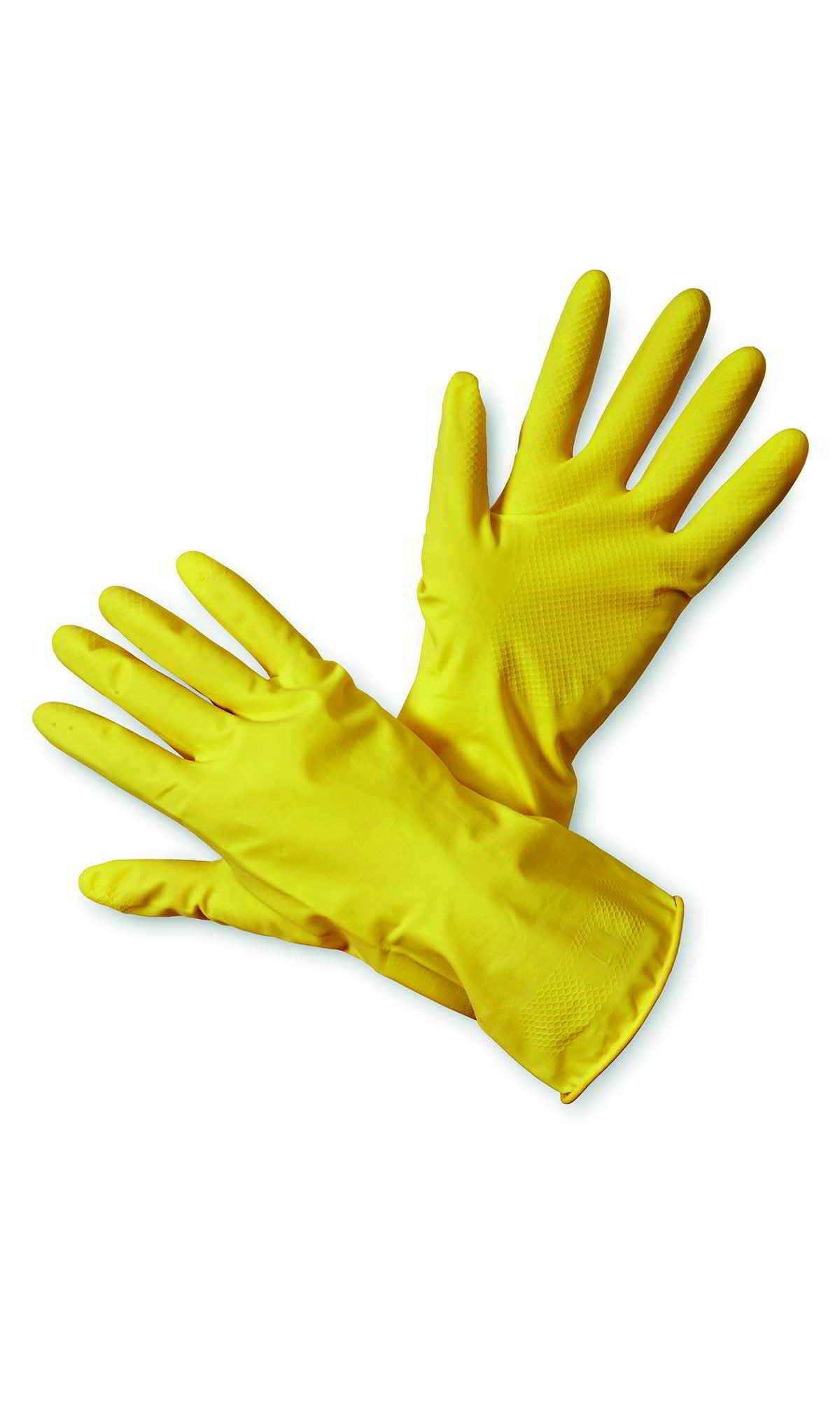 Rękawice gumowe gospodarcze źółte rozmiar: S