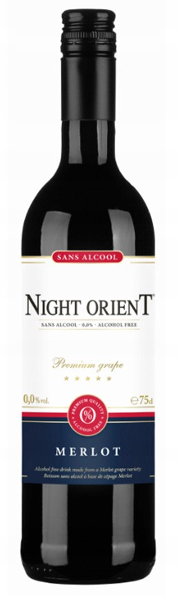 Item Non-alcoholic RED wine Night Orient Merlot
