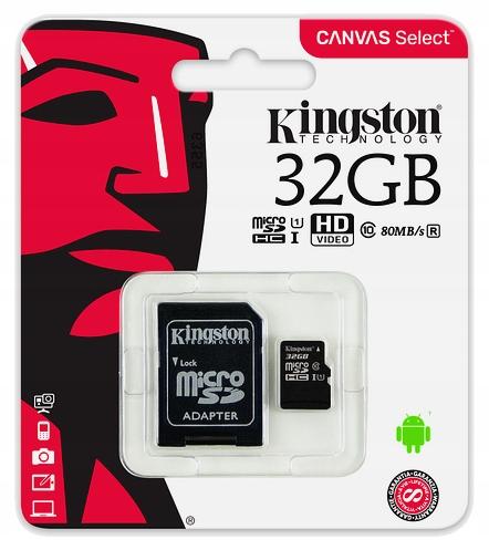 Item KINGSTON MEMORY CARD MICRO SD 32 GB CLASS 10 UHS