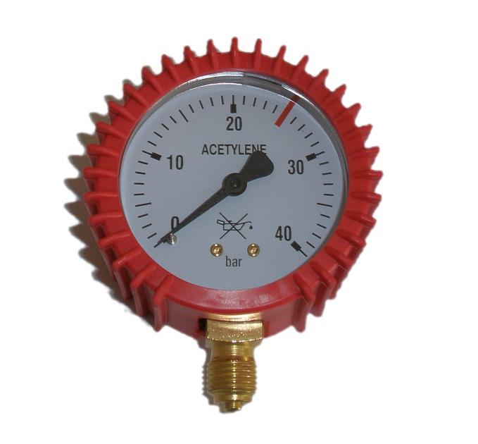 Gauge Clock Reduktor Acetylén 0-40 bar 1/4