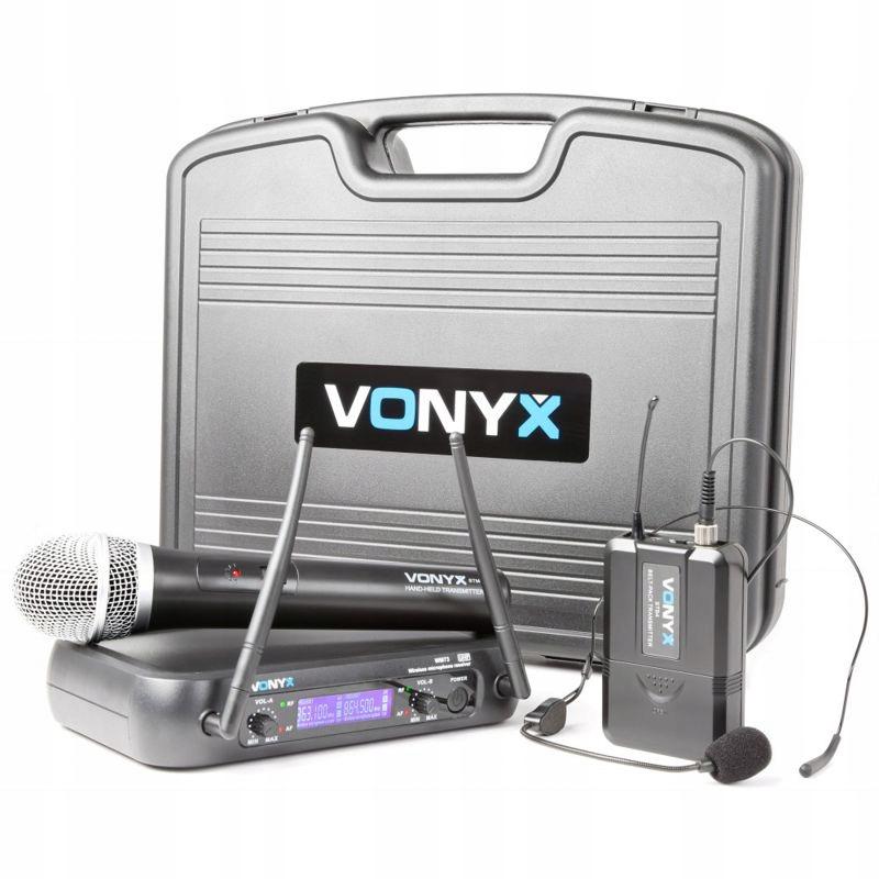 Bezdrôtový Vonyx WM73C 2xmický mikrofónový mikrofón