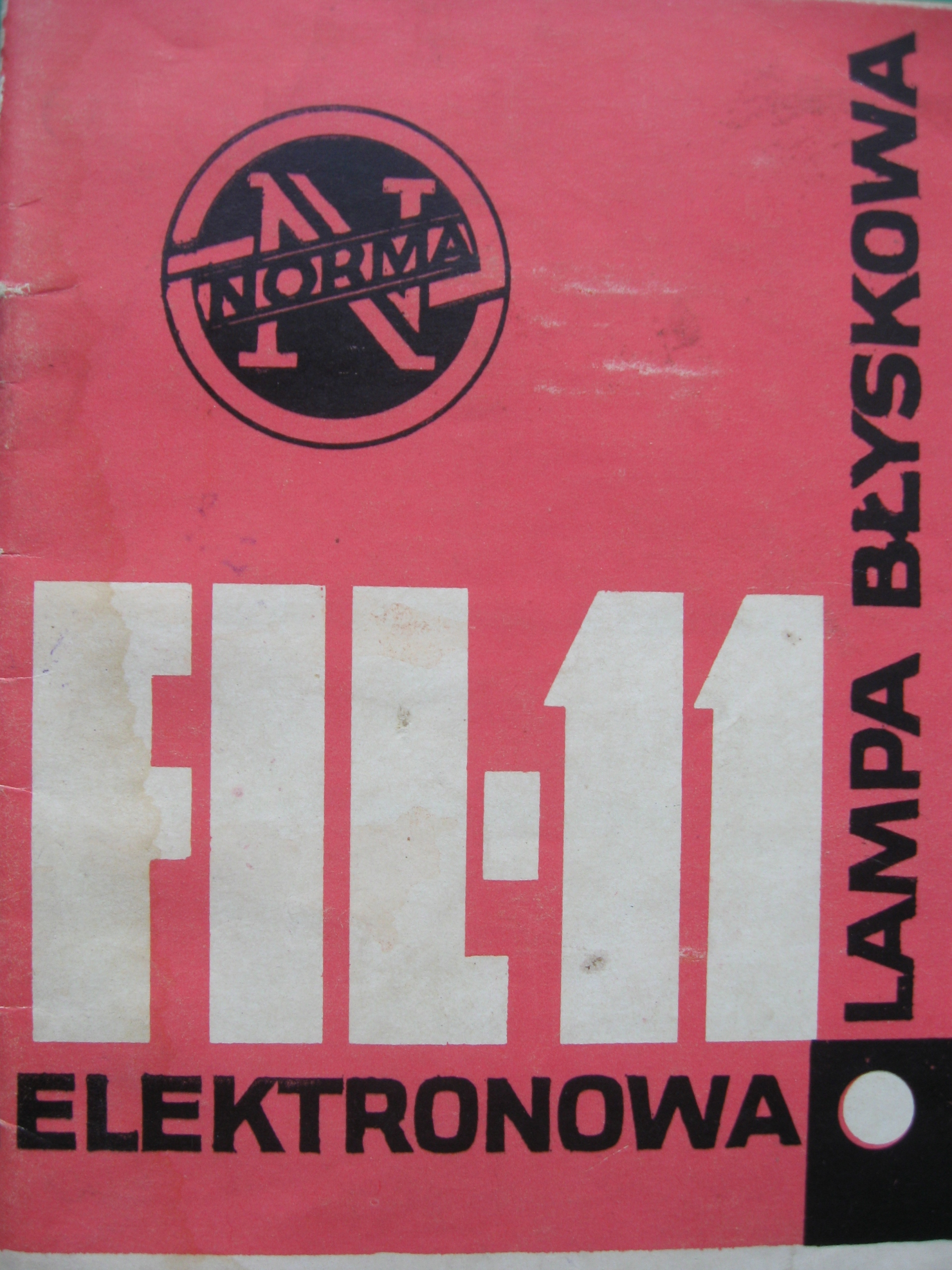 Item Electronic flash FIL-11 manual