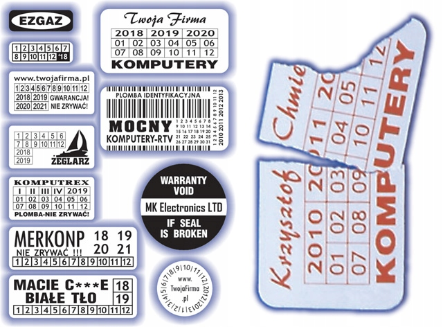 40x5 Plomby gwarancyjne Kruche / 390 - ArtComp