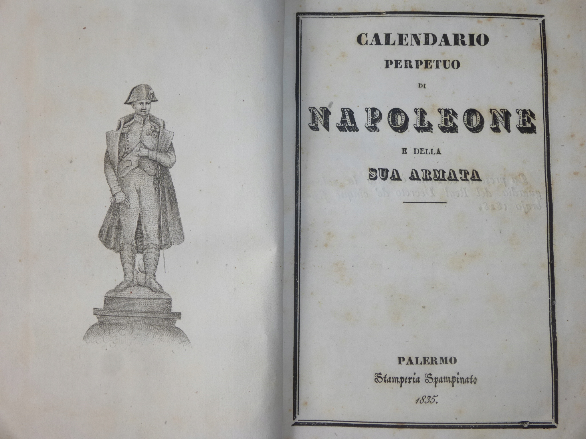 Item !RRR! THE PERPETUAL CALENDAR OF NAPOLEON AND HIS ARMY!