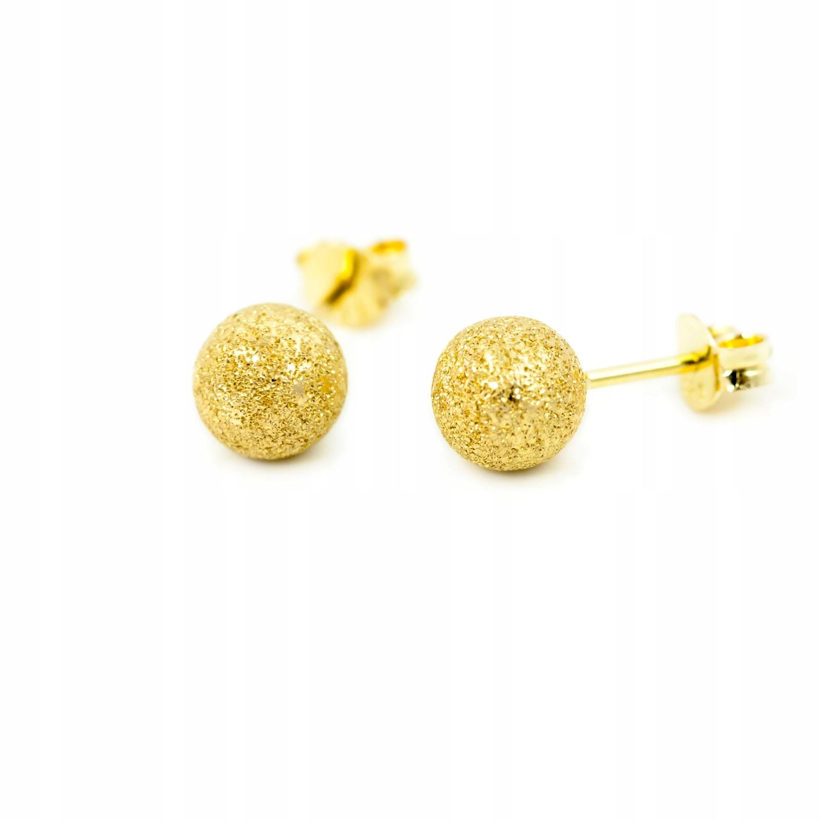 Gold 585 Náušnice Perly Młotkowane 7.0 mm id K1012
