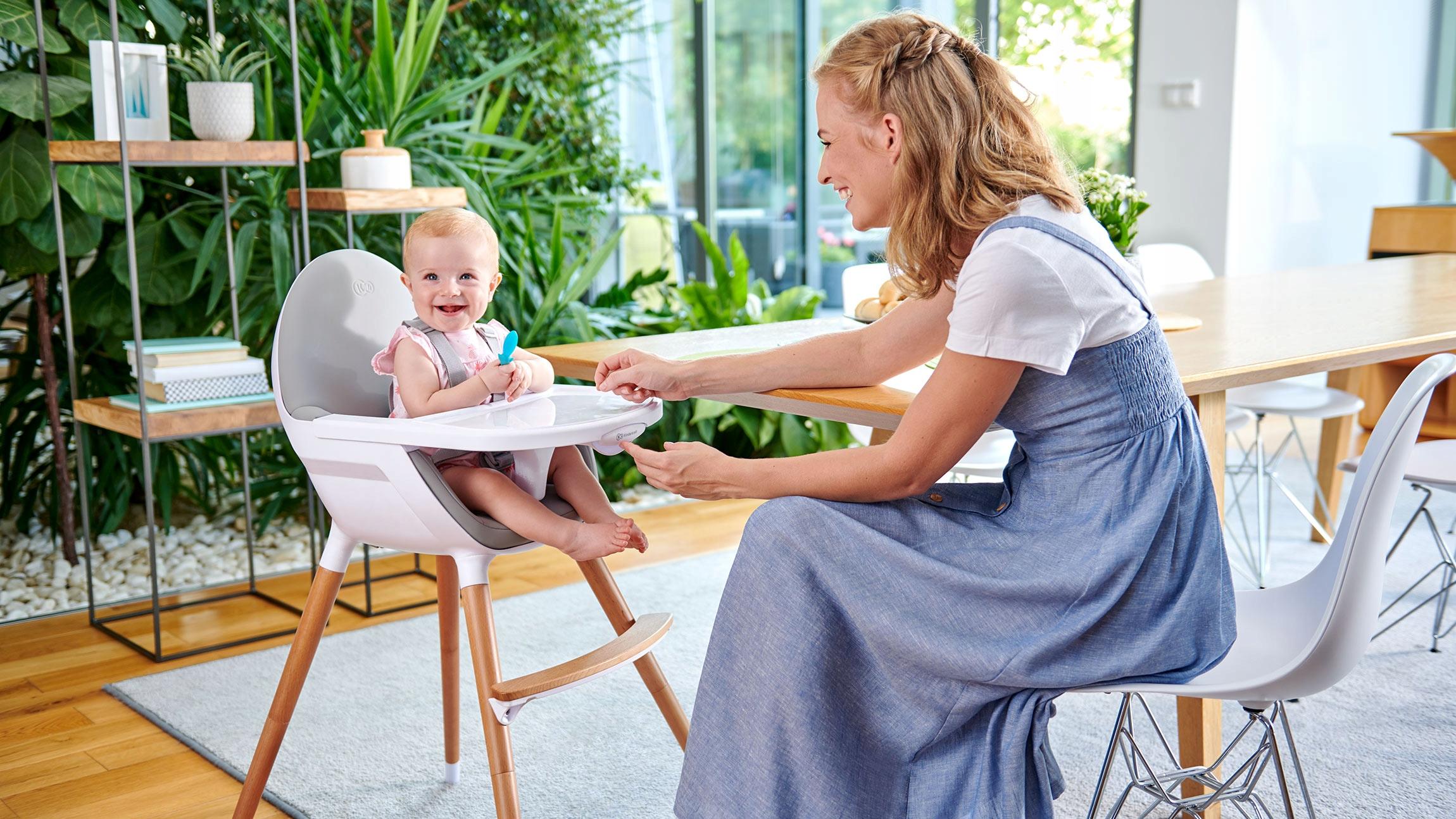 Кресло-качалка Детский стульчик Kinderkraft Дополнительная информация Нескользящие ножки Ремни безопасности Регулировка высоты Съемный чехол Съемная столешница