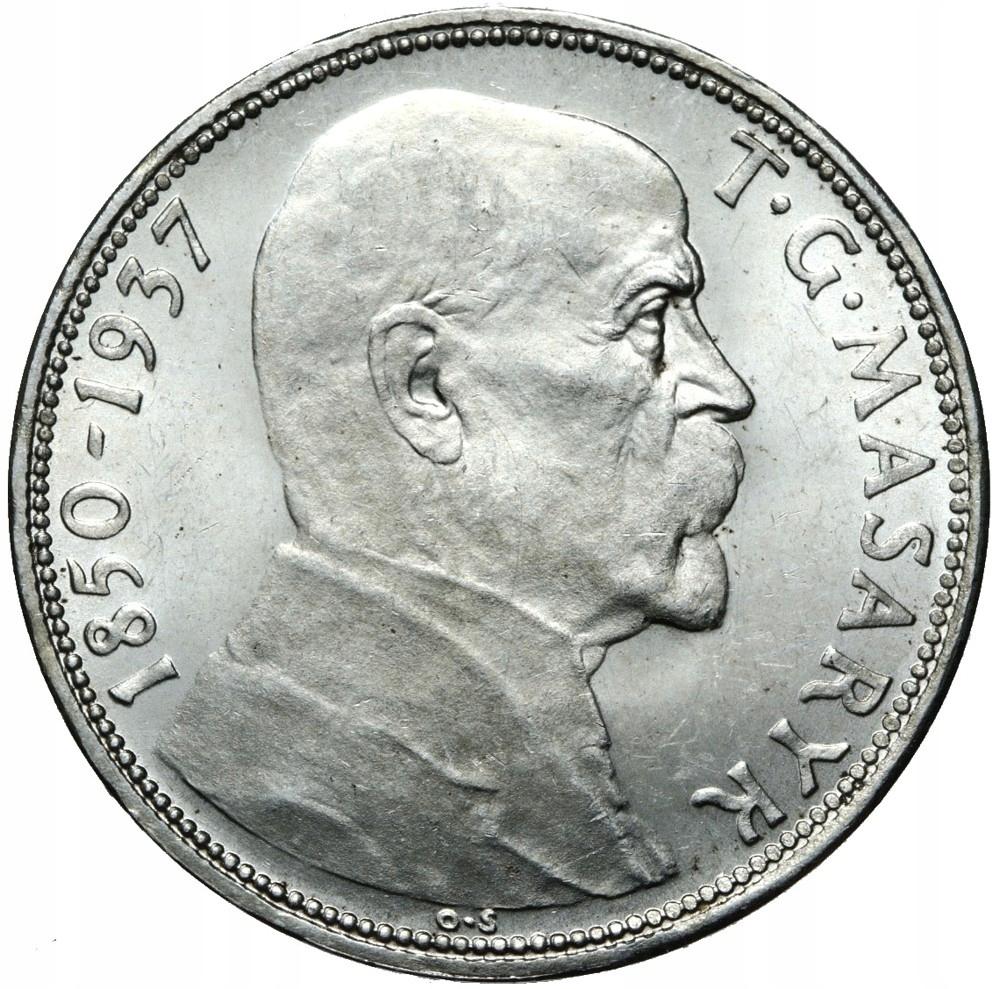 Československo 20 Kroner 1937 Silver Masaryk - UNC