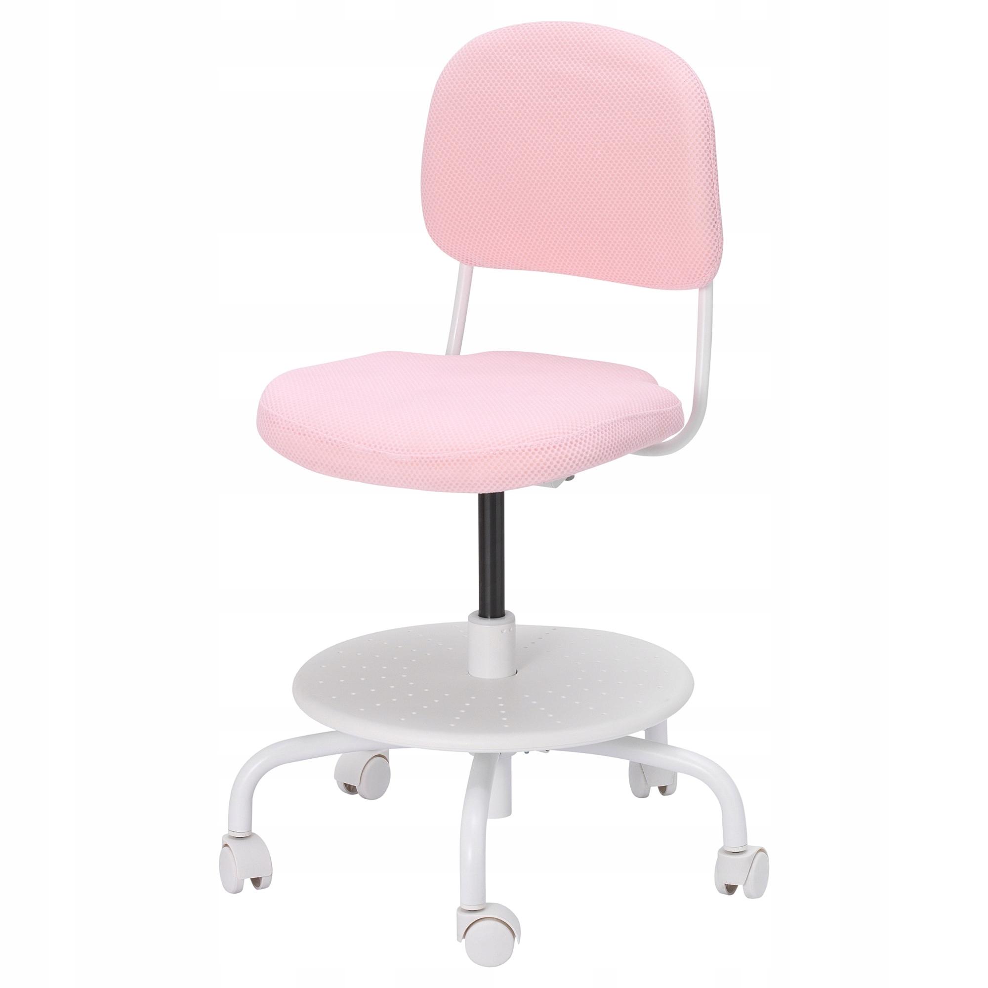 IKEA VIMUND Krzesło Obrotowe biurowe pokoju RÓŻOWE