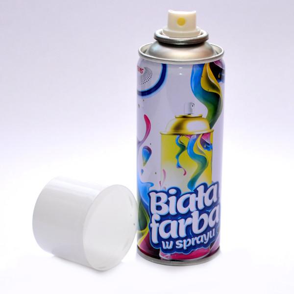 краска-спрей 250ml белая аэрозоль краски