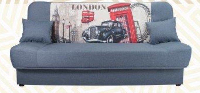 Rozkladacia pohovka Londýn téma Retro obrázok Pohovka Foto kosť