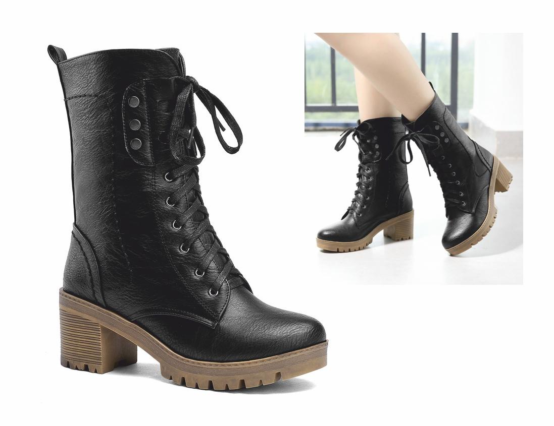 BT50 topánky, členkové topánky RETRO glany POSTARZANE black 39