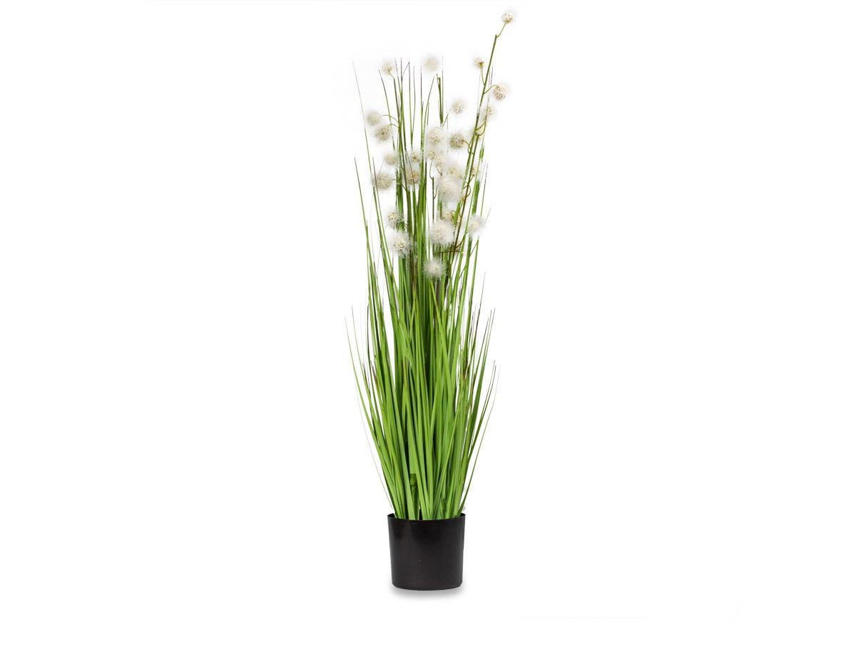 Umelý kvetinový rastlín tráva pompon 90 cm II