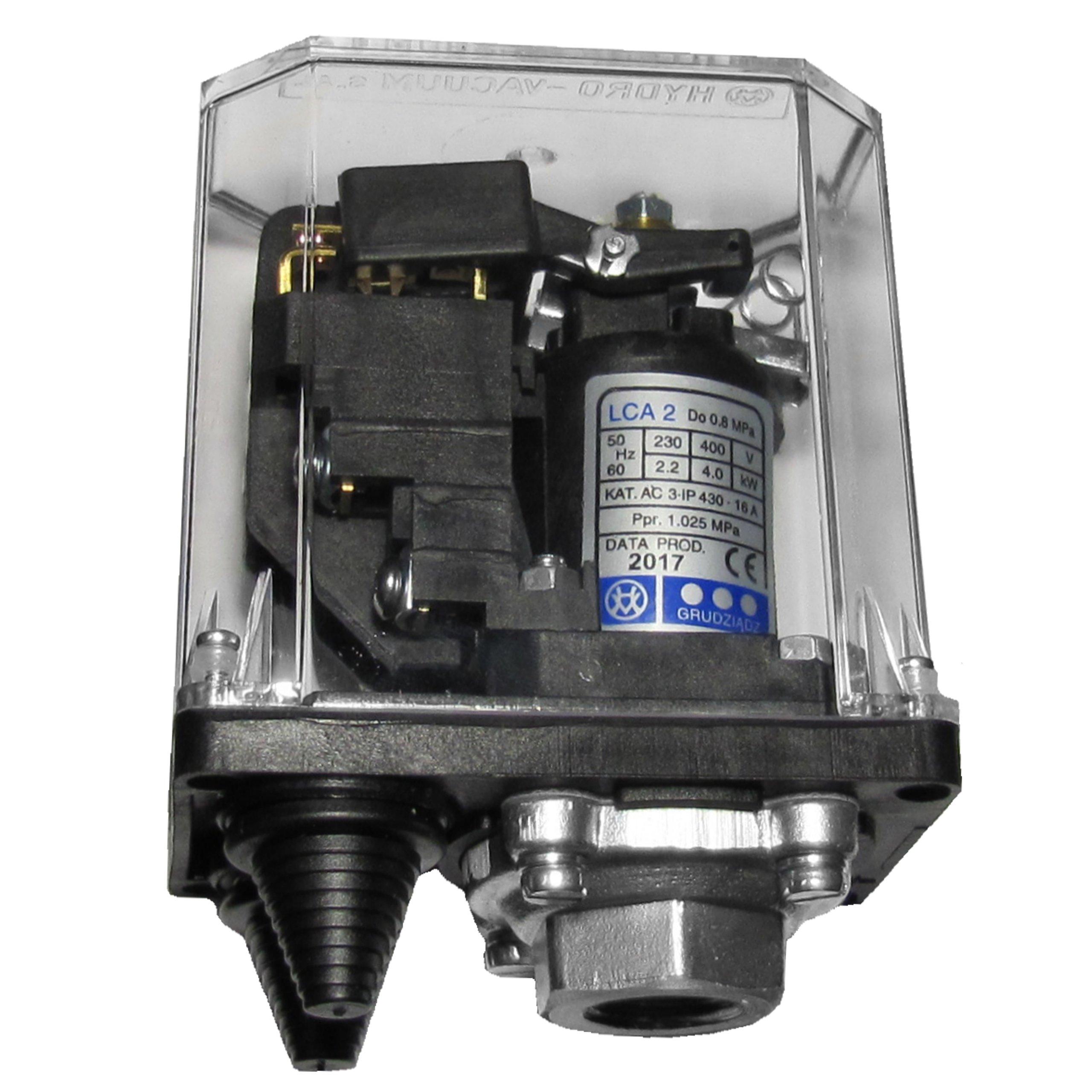 Mocny wyłącznik ciśnieniowy LCA 2 do 8bar H V S1