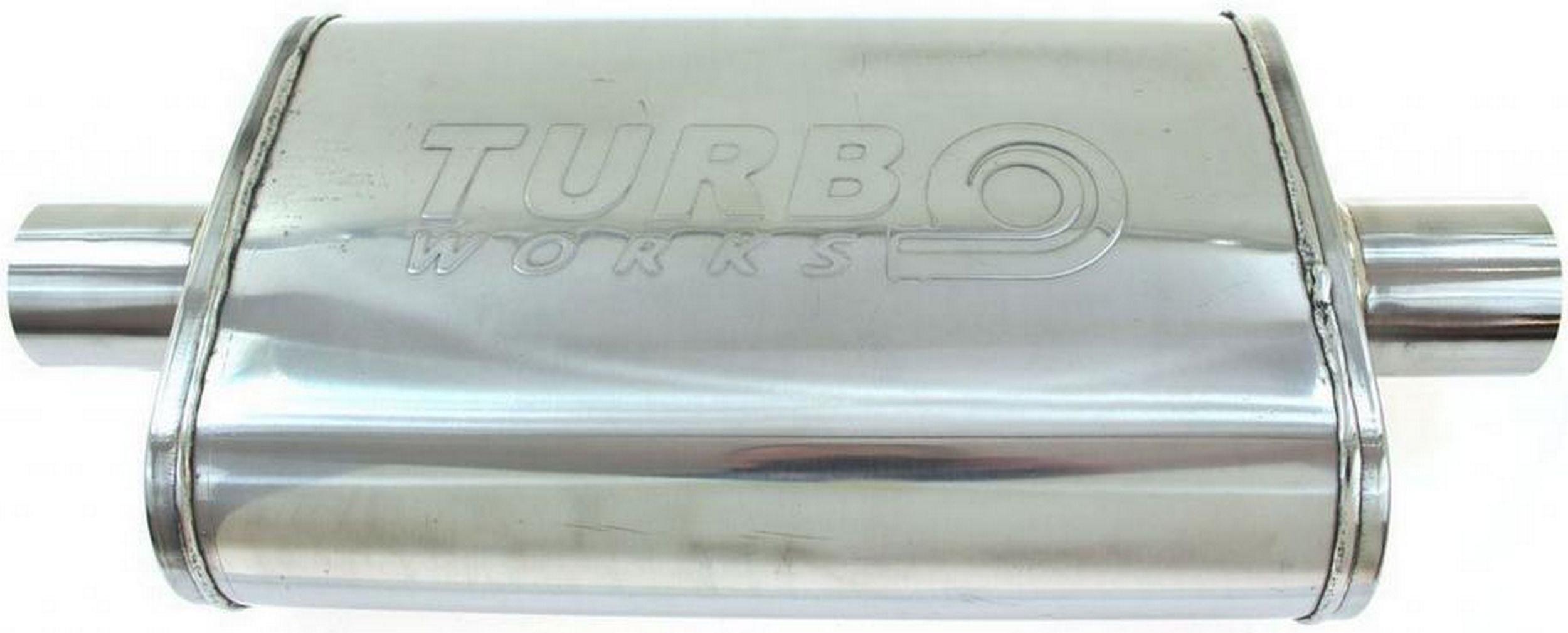 глушитель Средний сквозное 2 5'' turboworks сталь