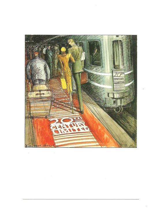Pocztówka - Nowy Jork i filmowa para w metrze