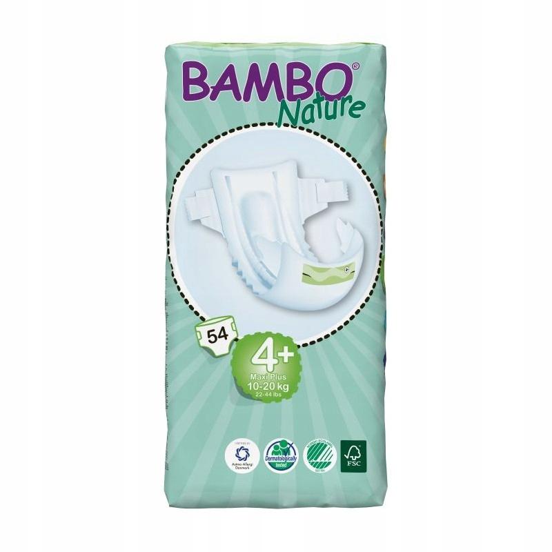 Bambo Nature pieluszki r4+ MAXI Plus 10-20kg 54szt