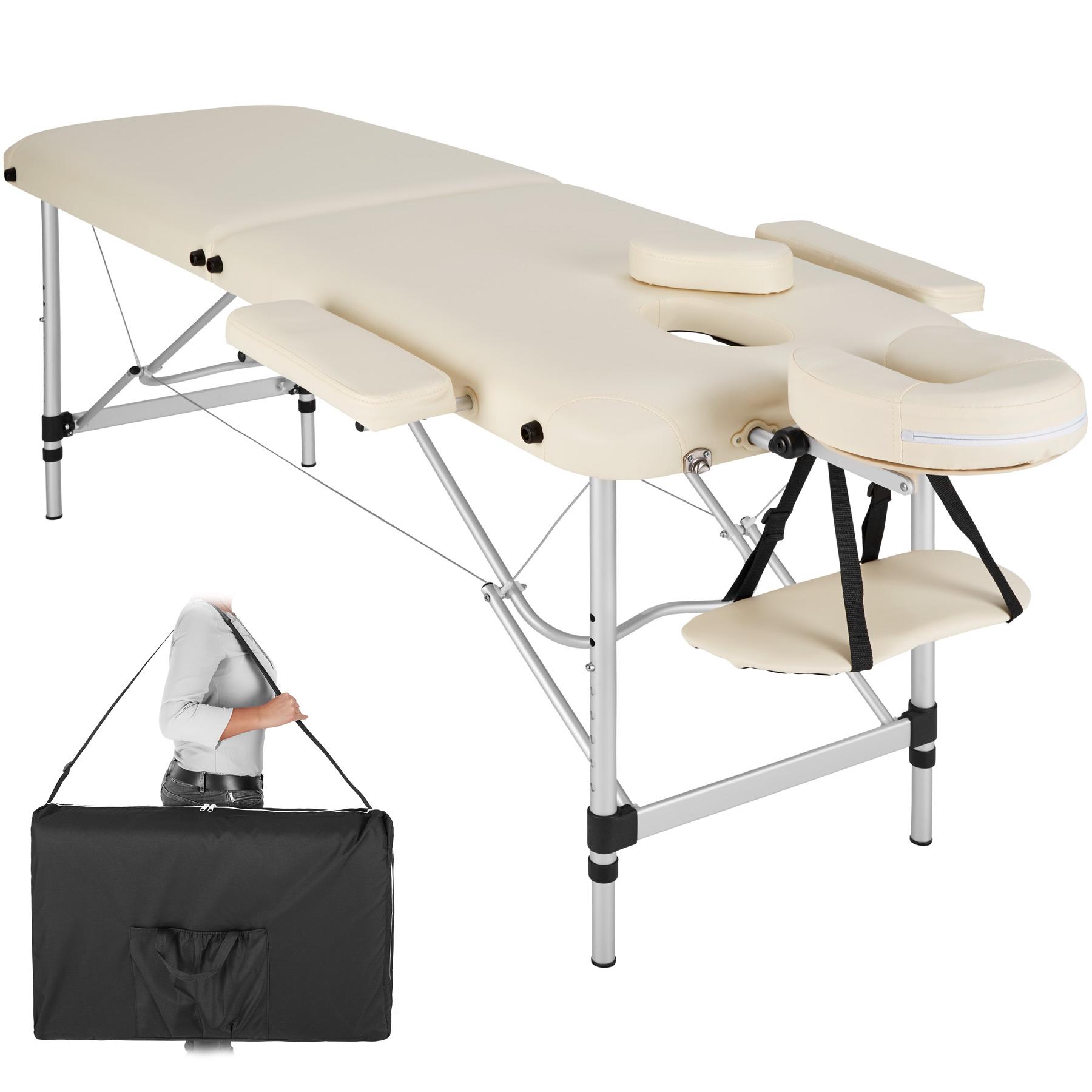 Łóżko do masażu stół do masażu 2 strefy alu 402787