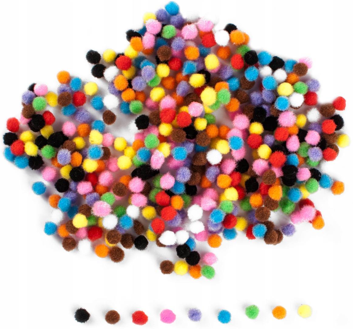 Item POM-POMS balls decoration decoupage ornaments 7mm 380sz