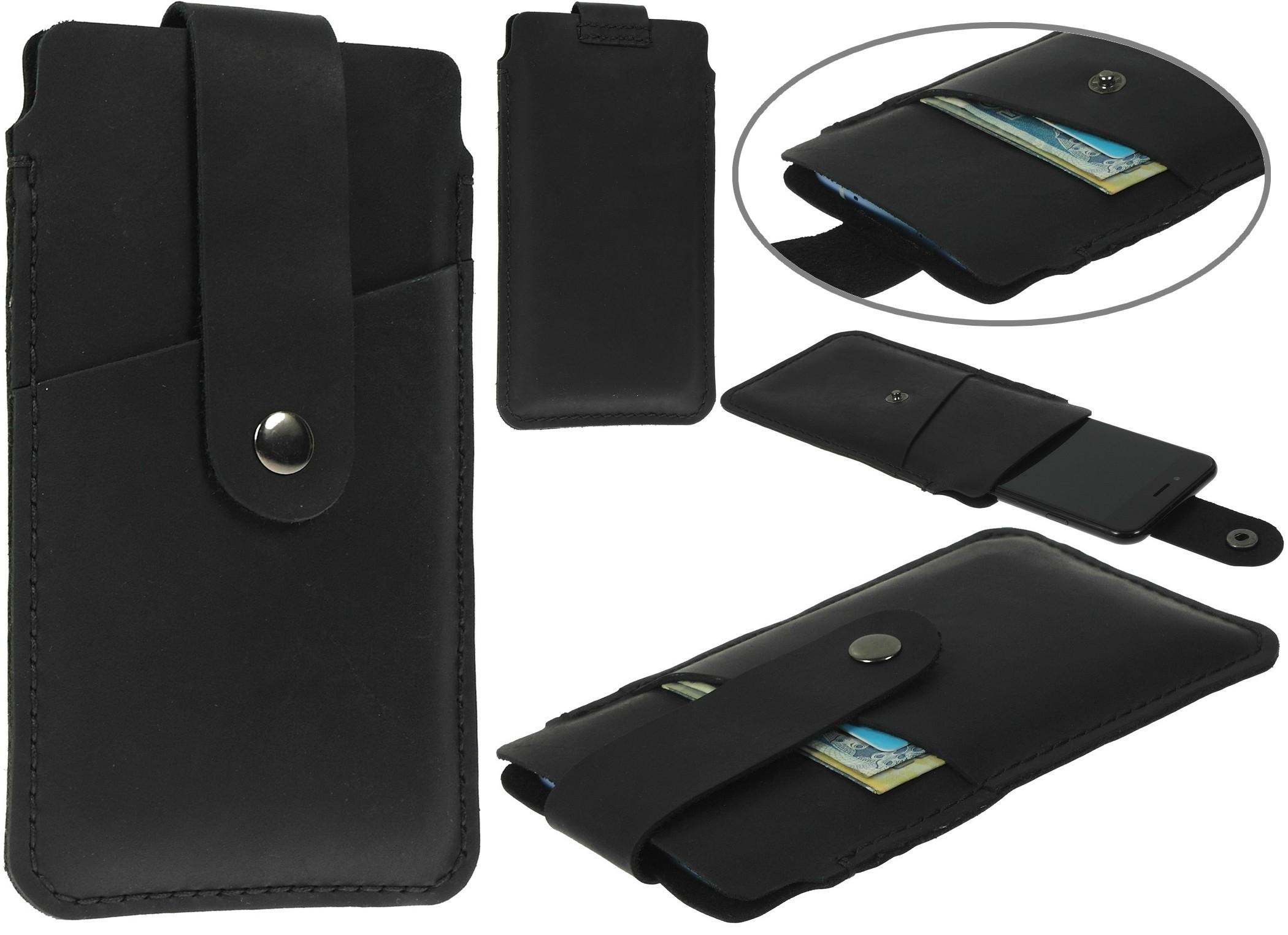 Portfel Etui Skórzane Czarne Samsung Galaxy A60
