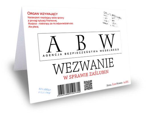 Zaproszenia ślubne Projekt Abw Lub Cbś 7367602279 Oficjalne