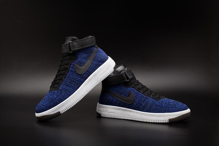 ładne buty najbardziej popularny o rozsądnej cenie NIKE AIR FORCE 1 ULTRA FLYKNIT NIEBIESKIE r.42 - 7333639841 ...