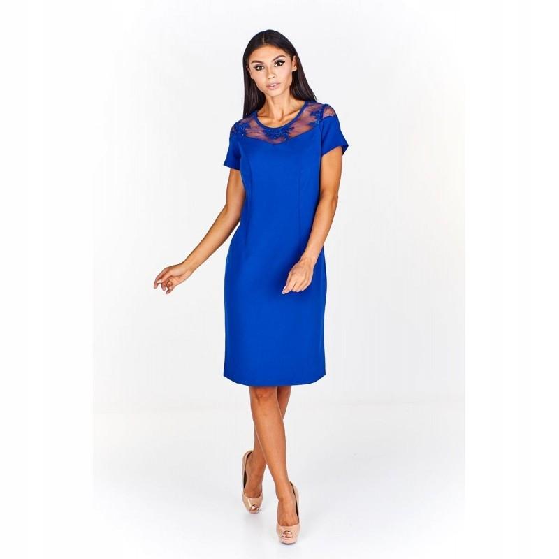 bff9ec16 Sukienka z koronkową wstawką przy dekolcie 42 Gran - 7599327709 ...