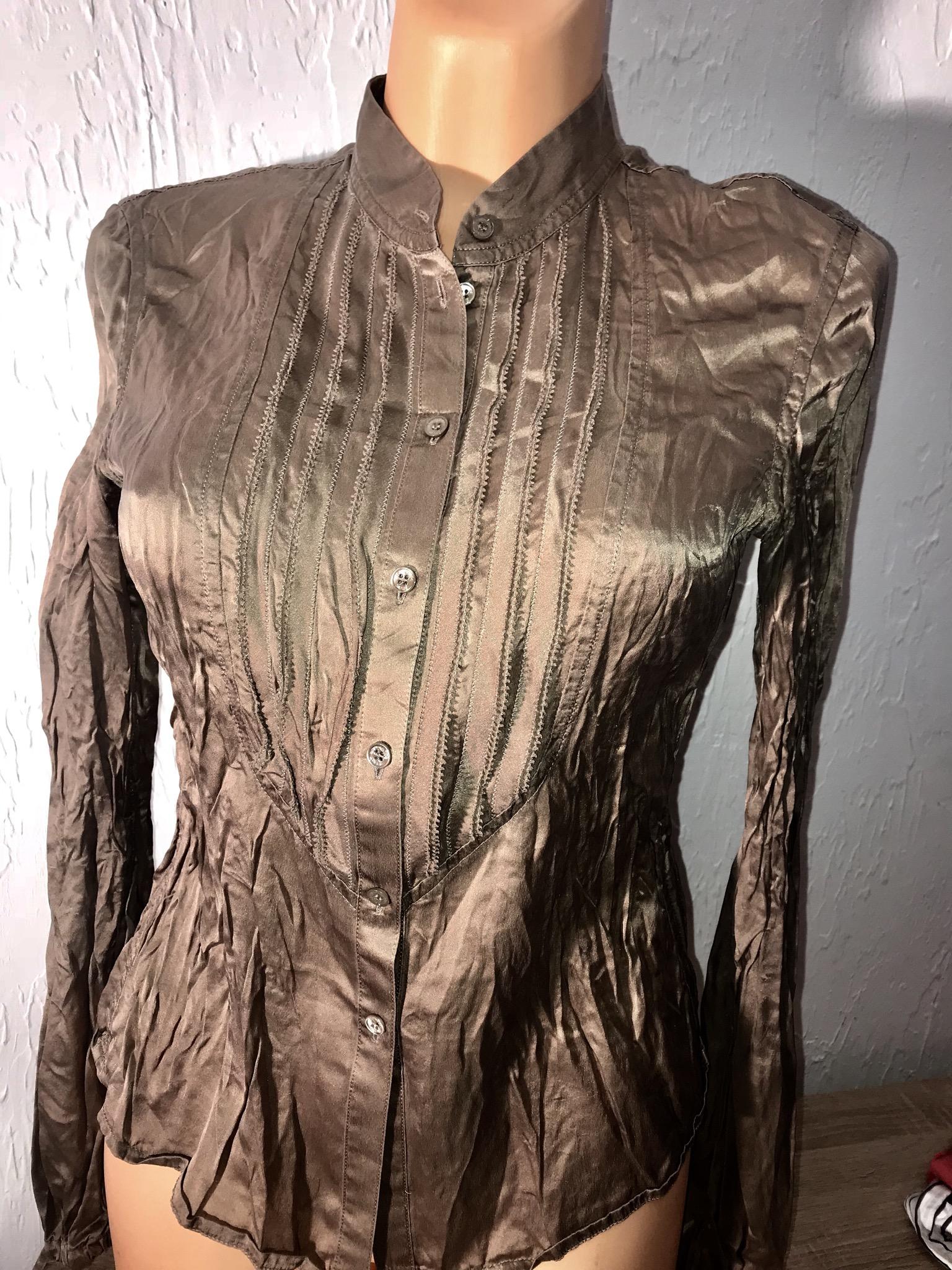Strenesse blue koszula bluzka 36 S 100% jedwab