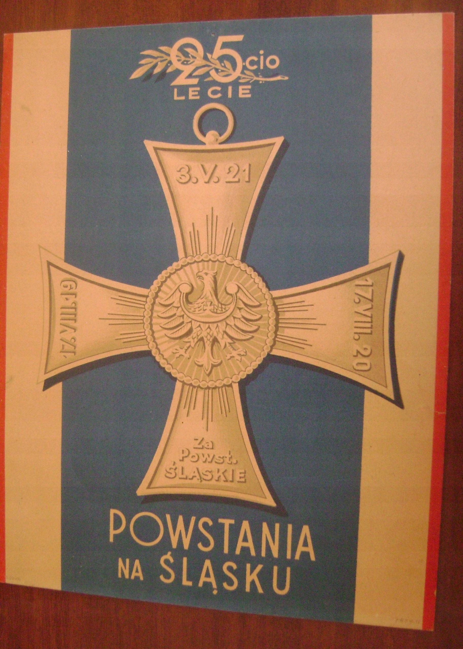 Górny śląsk Powstanie śląskie 25 Lecie Plakat 7591205652