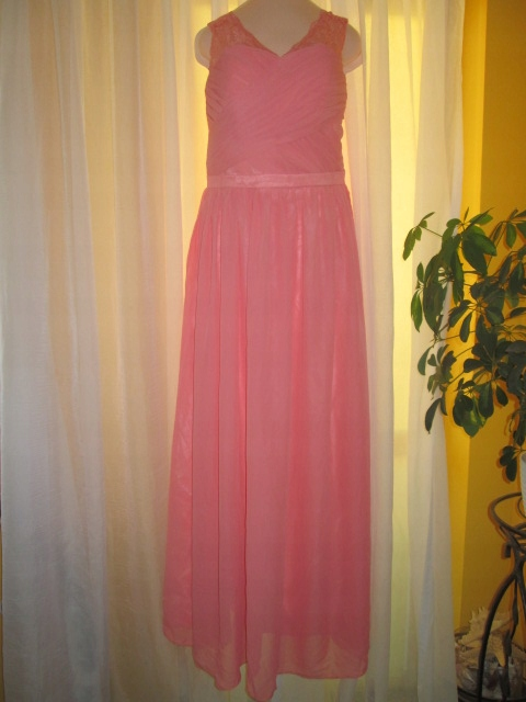 Powiewna zwiewna suknia 40 42 maxi koronka plisy