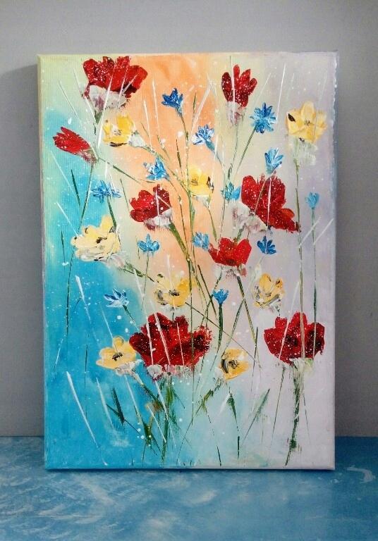 Obraz Kwiaty Akryl Abstrakcja 7582722738 Oficjalne Archiwum Allegro