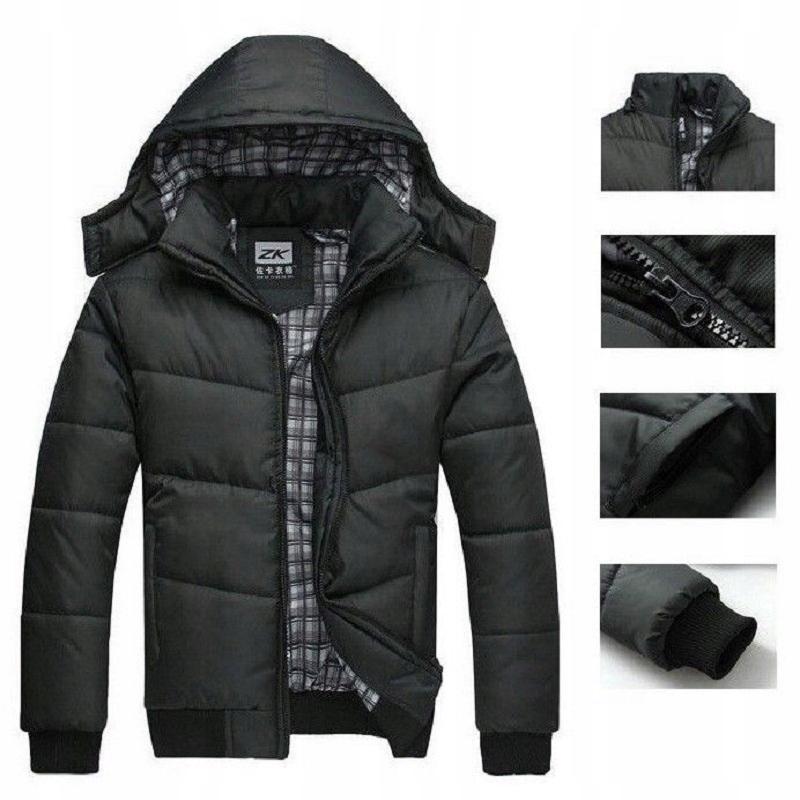 e9e2560af5c2e Fashion Kurtka Męska Pikowana Jesienna Czarna XL - 7538375638 ...