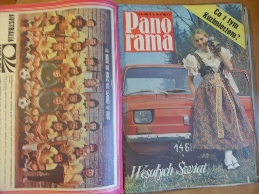 PANORAMA CZASOPISMO 1967 - 1974 , 50 x ZSZYWKA PRL