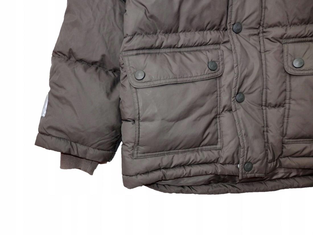 H&M, zimowa kurteczka, puch roz. 128cm