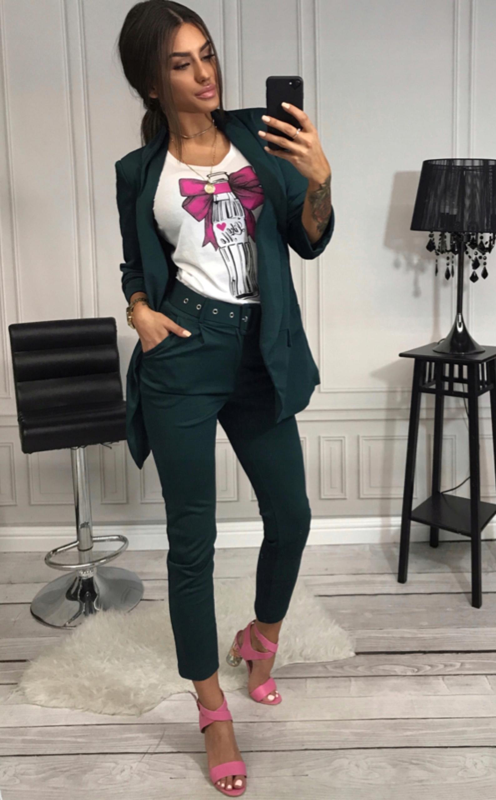1791f3dd70 Komplet żakiet spodnie kostium garnitur jak Zara M - 7562148724 ...
