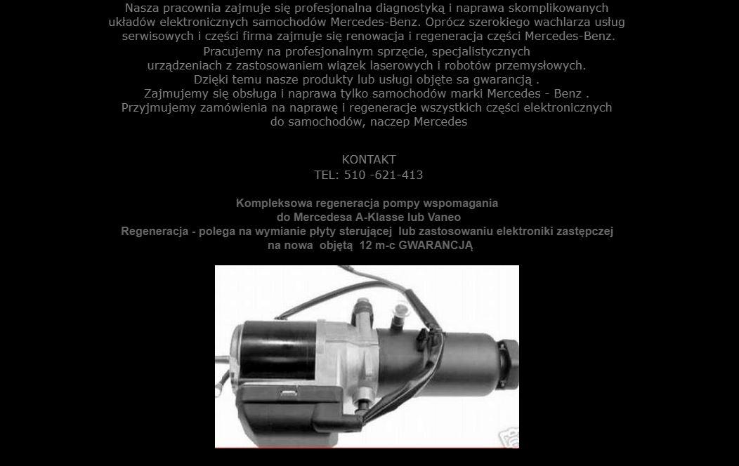Wspaniały POMPA WSPOMAGANIA MERCEDES A-KLASA W168 VANEO W414 - 7168037763 MI93