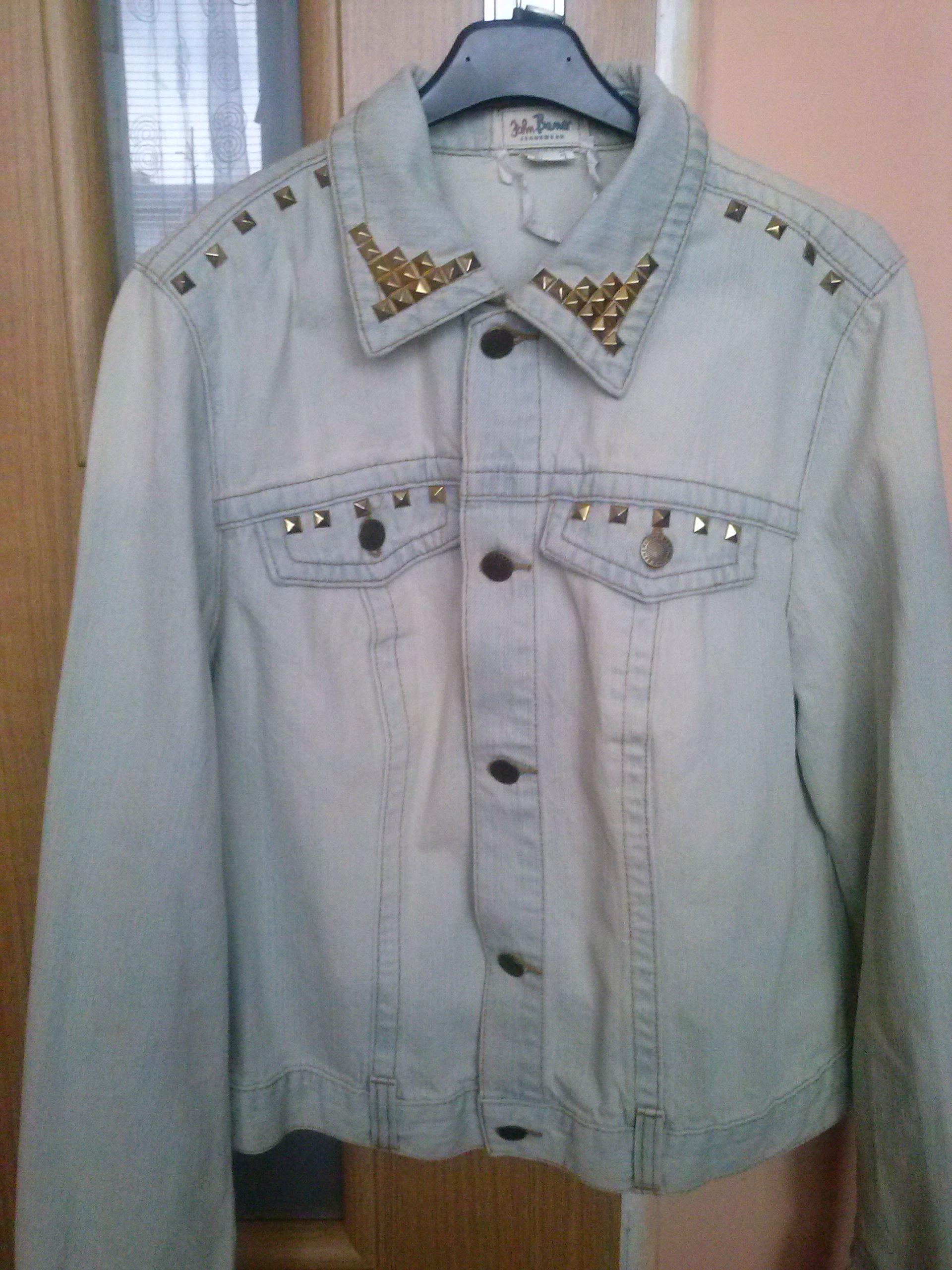 7230bd6156dd8 kurtka jeansowa z ćwiekami katana bonprix M, L - 7224228548 ...