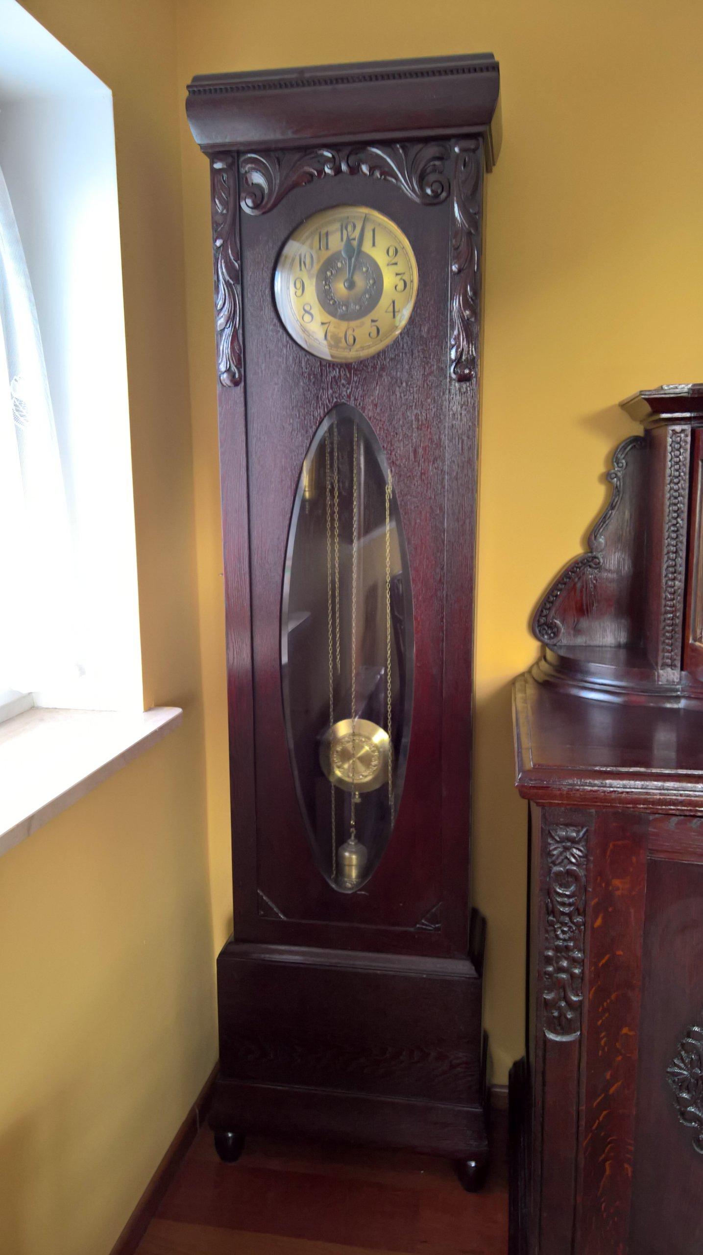 Piękny Zegar Stojący Drp Isgus Sececja