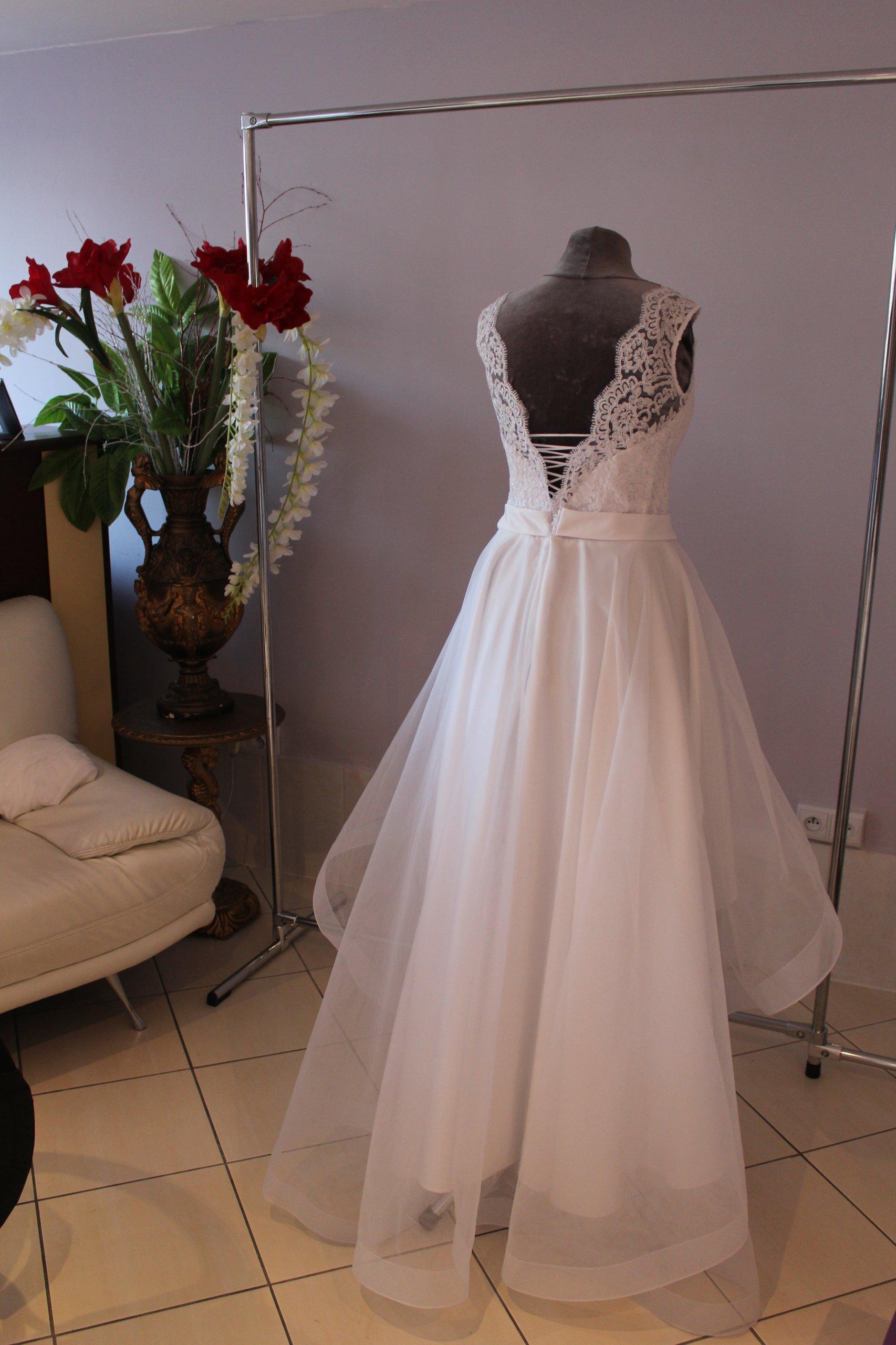 78a4ca66d8 Asymetryczna suknia ślubna. Idealna! - 7138250853 - oficjalne ...