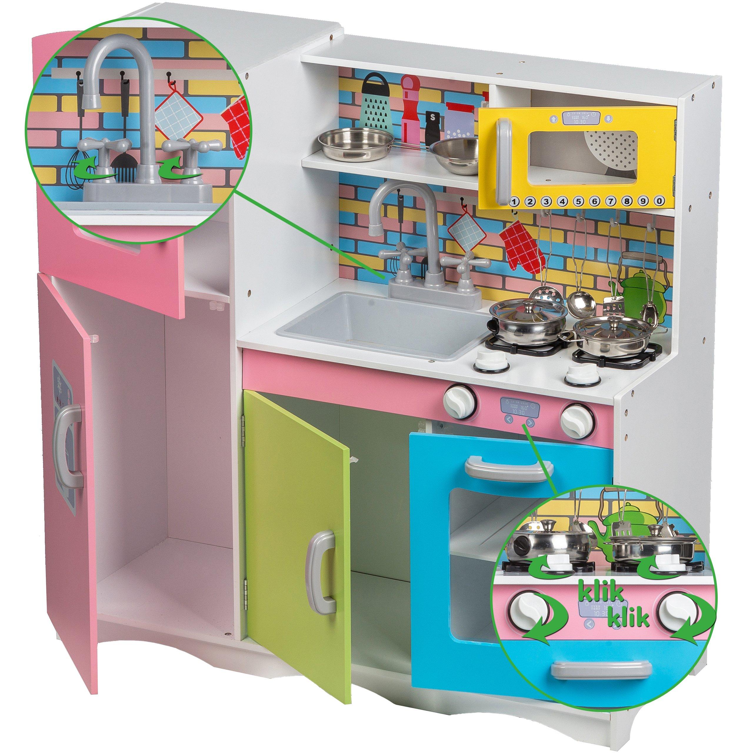 Drewniana Kuchnia Dla Dzieci Gratisy Ecotoys Tk038 7151501266