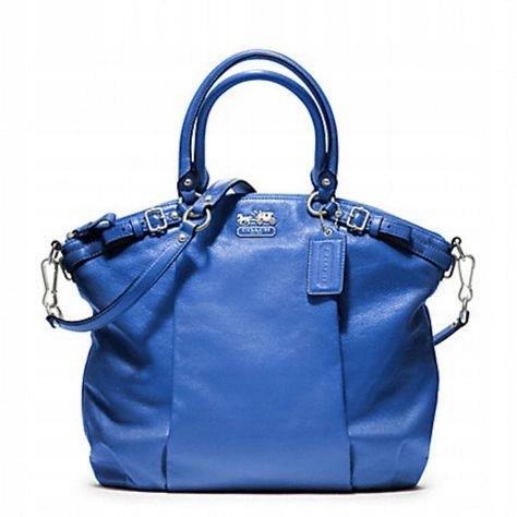 b7391f05e6f9e Coach Madison Lindsey-piękna niebieska torba - 7605324362 ...