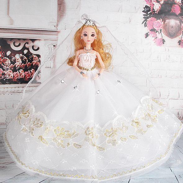 Suknia ślubna Dla Lalki Barbie Piękna Szeroka 7286637176