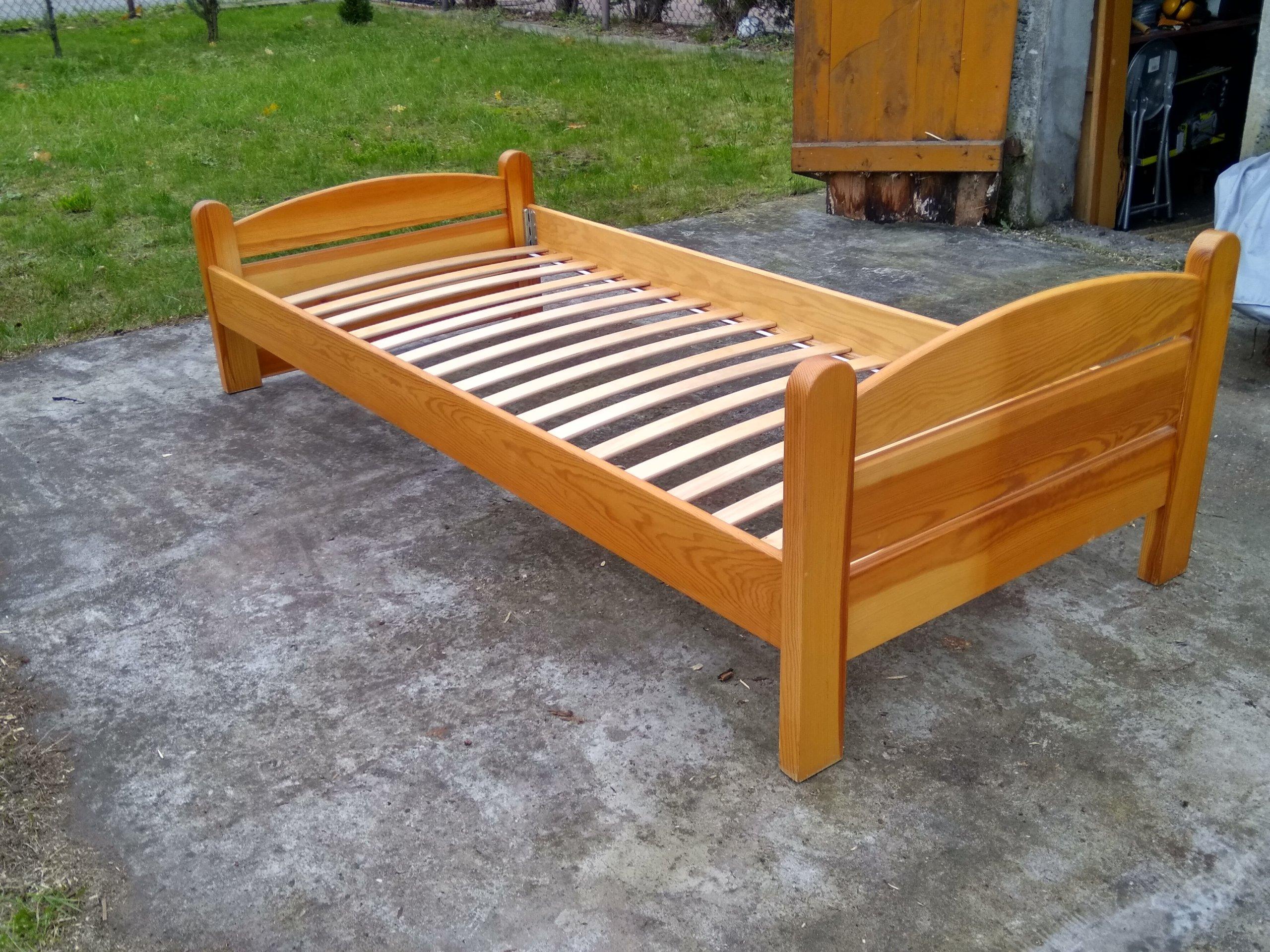 łóżko Drewniane Solidne 90x200 Szuflada łatwe 7091171580