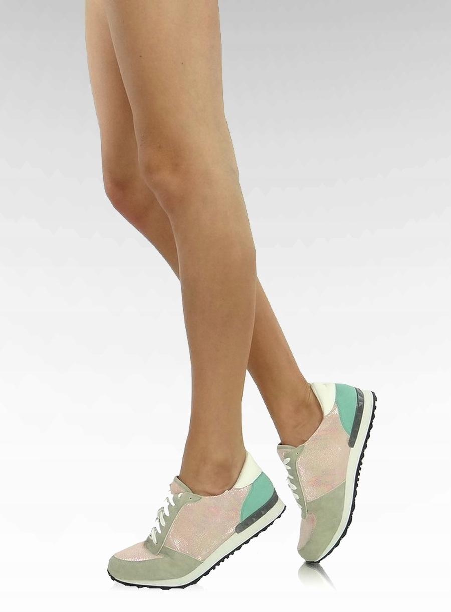 8eac8050c27092 Buty sportowe pastelowy odcień Różowe 40 obuwie - 7413817198 - oficjalne  archiwum allegro